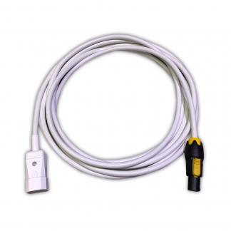 Marten® IEC C14 Male to Neutrik PowerCON True1 NAC3FX-W White PVC