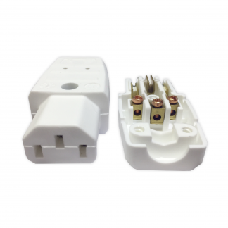 Kaiser 794 IEC C13 10a Female White Easy Wire