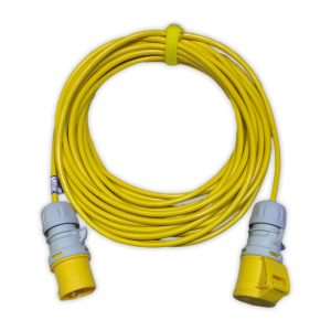 5MTR 16amp 1-5mm 110V ARCTIC YELLOW EXTENSION LEAD