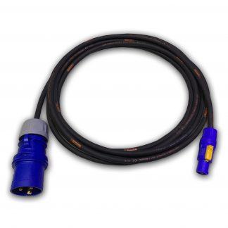 Marten® 240v 16a Male to PowerCON Female HO7RN-F 1.5mm BLUE