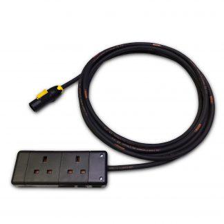 Marten 230v PowerCON True1 NAC3MX-W to 2 Gang 1.5mm HO7RN-F